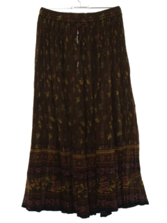 1990's Womens Hippie Broomstick Skirt