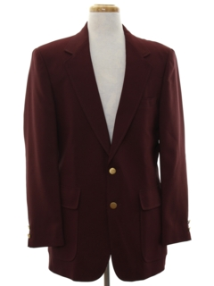 1980's Mens Ron Burgundy Style Blazer Sport Coat Jacket