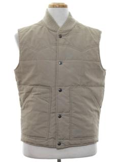 1970's Mens Western Ski Style Vest Jacket