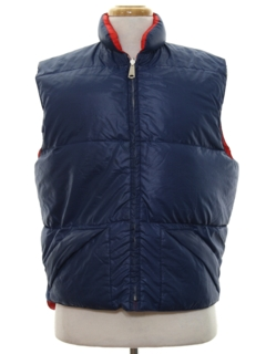 1980's Mens Reversible Ski Vest Jacket