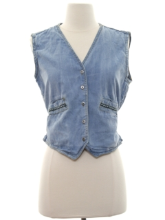 1970's Womens Denim Hippie Vest