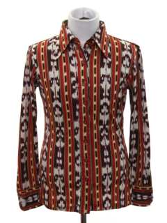 1970's Womens/Childs Print Disco Shirt