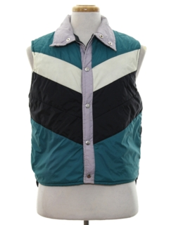 1980's Mens Totally 80s Ski Vest Jacket