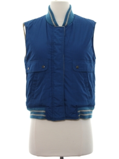 1980's Womens Totally 80s Reversible Ski Vest Jacket