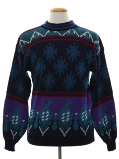 1980's Mens Totally 80s Snowflake Ski Sweater