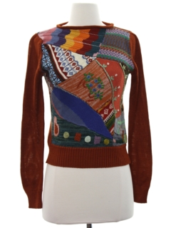 1970's Womens Hippie Sweater