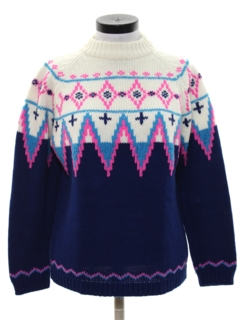 1960's Womens Vintage Ski Sweater