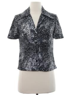 1970's Womens Designer Print Shirt