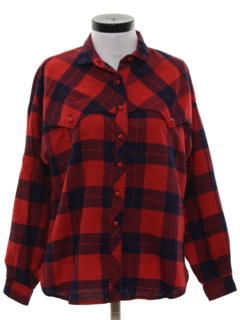 1980's Womens Flannel Western Shirt