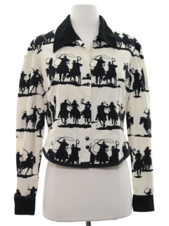 1980's Womens Western Style Shirt