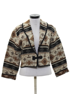 1990's Womens Totally 80s Equestrian Style Jacket
