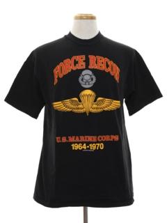 1990's Unisex Marines Military T-shirt