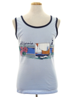 1980's Mens Totally 80s Tank Top T-shirt