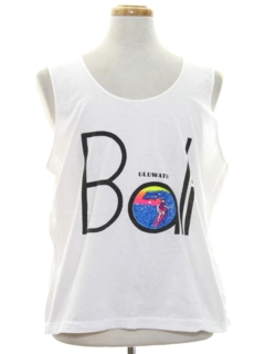 1980's Mens Totally 80s Style Tank Top Travel T-shirt