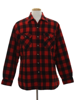 1980's Mens Flannel Shirt Jacket