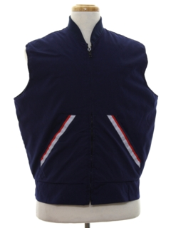 1990's Mens Zip Work Vest Jacket