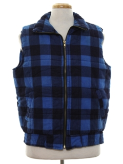 1980's Mens Totally 80s Flannel Vest
