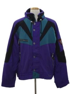 1980's Mens Totally 80s Ski Style Jacket