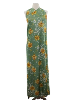 1970's Womens Halter Wrap Sun Dress