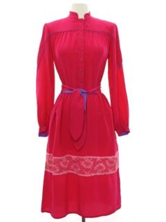 1970's Womens Silk Dress
