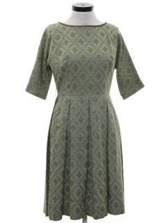 1960's Womens Damask Dress
