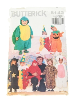 1980's Unisex/Childs Holiday Costume Pattern