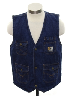 1980's Mens Denim Vest