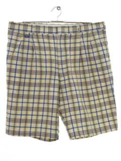 1980's Mens Plaid Saturday Shorts