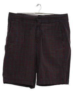 1990's Mens Plaid Saturday Style Shorts