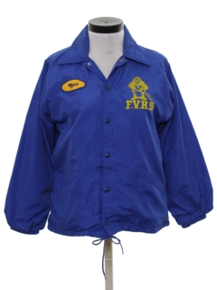 1980's Womens Wind Breaker Snap Jacket