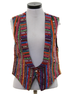 1990's Womens Guatemalan Style Hippie Vest