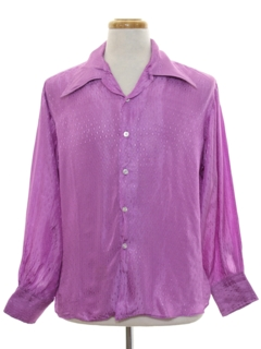 1960's Mens Subtle Print Disco Style Shirt