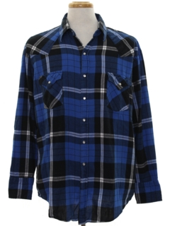 1990's Mens Wicked 90s Grunge Flannel Western Shirt