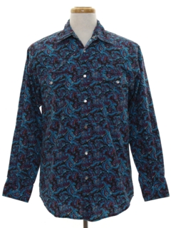 1990's Mens Wicked 90s Western Shirt