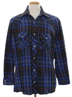 1990's Mens Wicked 90s Flannel Western Shirt