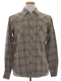 1960's Mens Gabardine Western Shirt