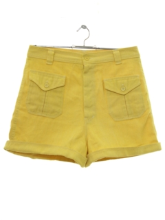 1980's Womens Totally 80s High Waisted Shorts