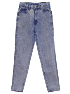 1990's Womens Acid Washed Denim Jeans Pants