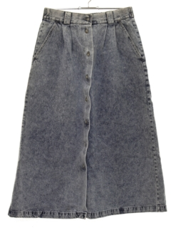 1980's Womens Totally 80s Acid Washed Denim Skirt