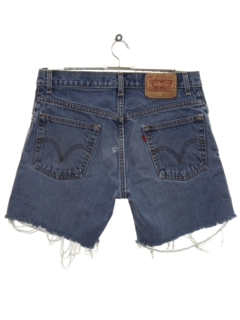 1990's Mens Levis 517 Cut Off Denim Shorts