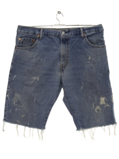 1990's Mens Levis 517 Cut Off Denim Shorts