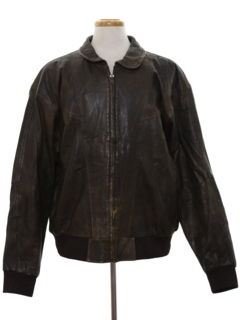 1990's Mens Bomber Leather Flight Style Jacket
