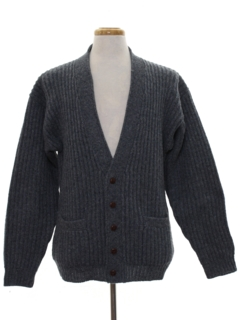 1980's Mens Cardigan Sweater