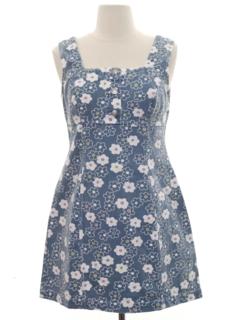 1990's Womens Wicked 90s Denim Mini Dress