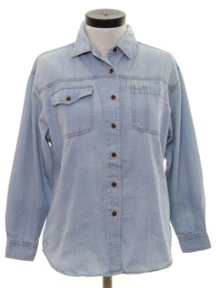 1980's Womens Totally 80s Denim Shirt