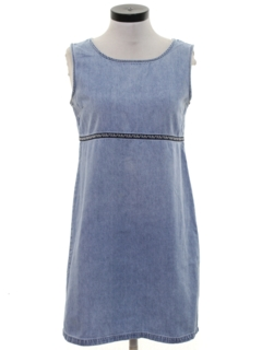 1990's Womens Mini Denim Dress