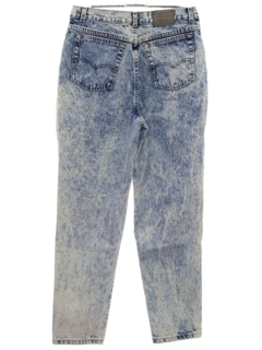 1980's Mens Levis Totally 80s Acid Washed Denim Jeans Pants