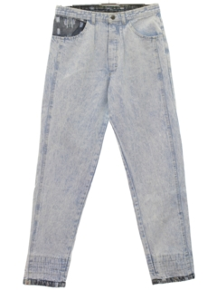 1980's Mens Totally 80s Acid Washed Denim Jeans Pants