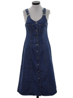 1990's Womens Wicked 90s Denim Dress