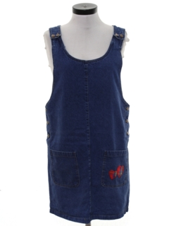 1990's Womens Wicked 90s Mini Denim Dress